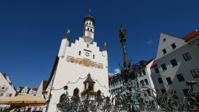 Town Hall on the Market Square, Kempten, Swabia, Bavaria, Germany
