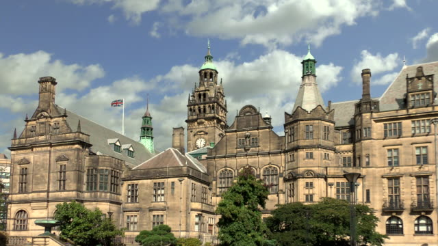 town hall - sheffield, england - sheffield stock videos & royalty-free footage