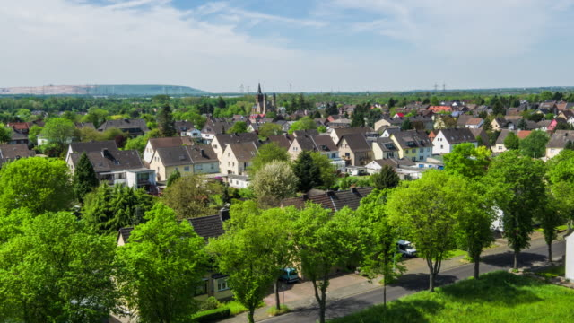 AERIAL: Town in Germany