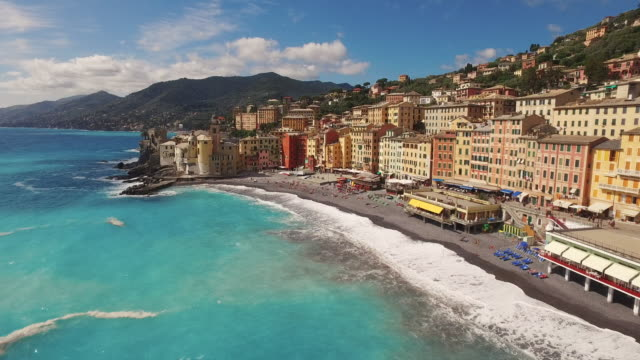 town of camogli in italy - italy stock videos & royalty-free footage