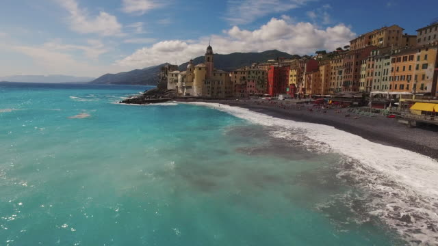 town of camogli in italy - liguria stock videos & royalty-free footage