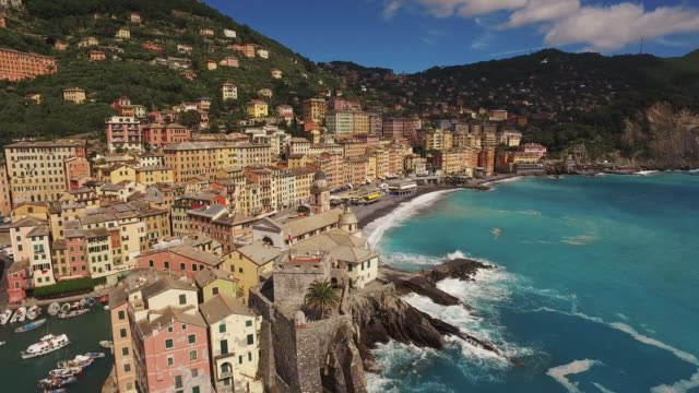 Town of Camogli in Italy