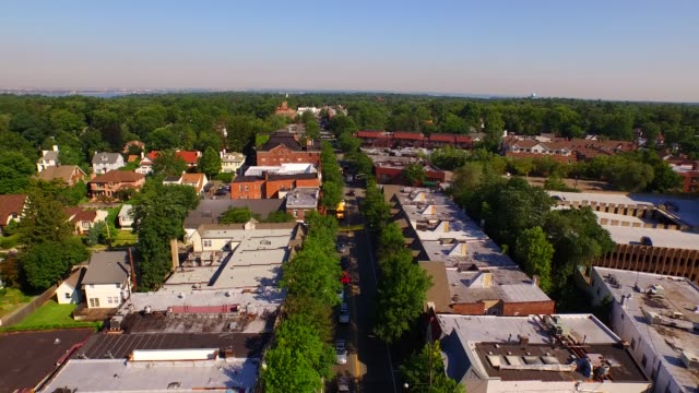 town of great neck, long island drone view - long island video stock e b–roll