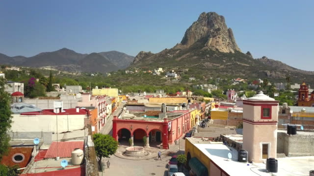 town of peña de bernal in queretaro - ecuador stock videos & royalty-free footage