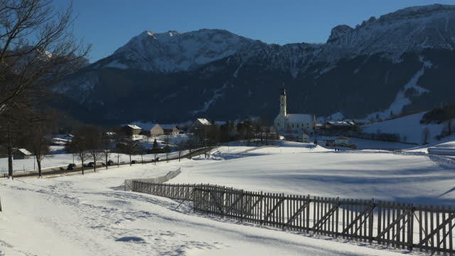 town of pfronten and mount breitenberg, allgaeu alps, swabia, bavaria, germany - pfronten stock videos and b-roll footage