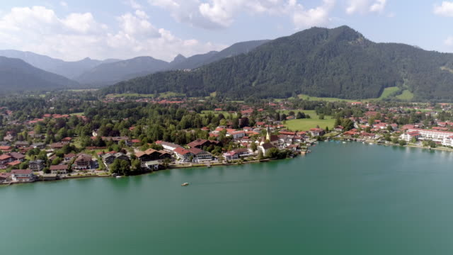 town of rottach-egern at lake tegernsee - bavaria stock videos & royalty-free footage