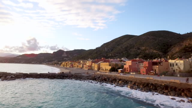 town of varigotti in italy - liguria stock videos & royalty-free footage