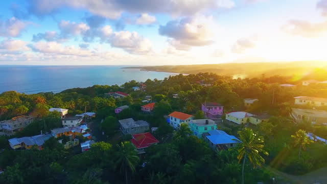 town on the island during sunset - cuba stock videos & royalty-free footage
