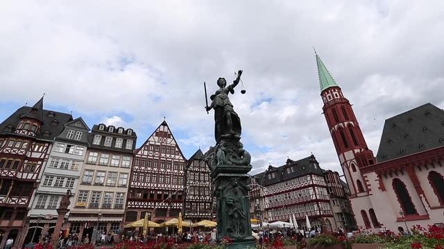 town square romerberg in frankfurt germany. - hesse germany stock videos & royalty-free footage