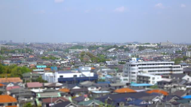 タウンの眺め屋根バルク 1 -4 k - 住宅地点の映像素材/bロール
