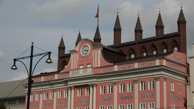 Townhall on Neuer Markt, New Market, Rostock, Mecklenburg-Western Pomerania, Germany