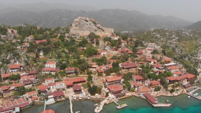 vídeos y material grabado en eventos de stock de townscape de kalekoy, antalya, turquía - turkey