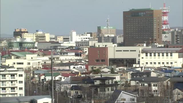 vidéos et rushes de townscape of kushiro, hokkaido, japan - ville moyenne