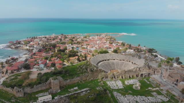 アンタルヤ、トルコ側の景観 - 大昔の点の映像素材/bロール