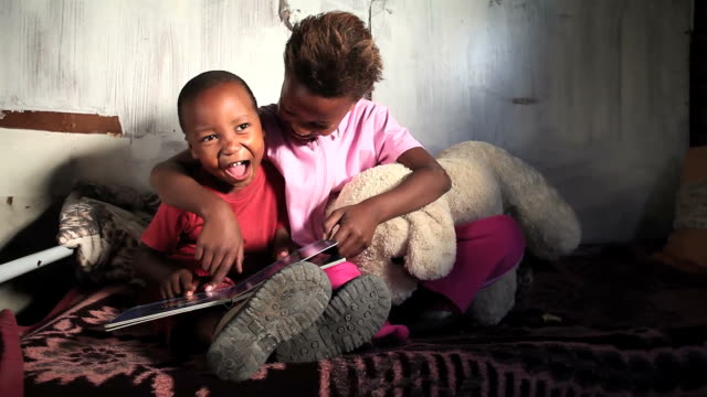 township kids learning - africa stock videos & royalty-free footage