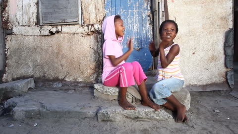 township kids playing - africa stock videos & royalty-free footage