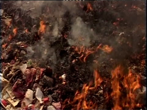 toxic black smoke rises from pile of burning electrical waste china 22 nov 04 - toxic waste stock videos & royalty-free footage