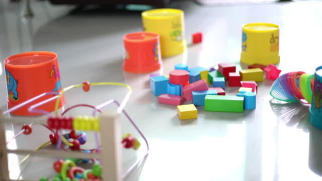 toy block on the floor at home - toy stock videos & royalty-free footage