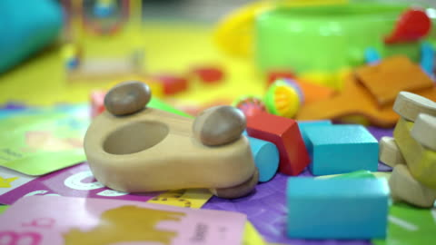 toy block on the mat at home - messy stock videos & royalty-free footage