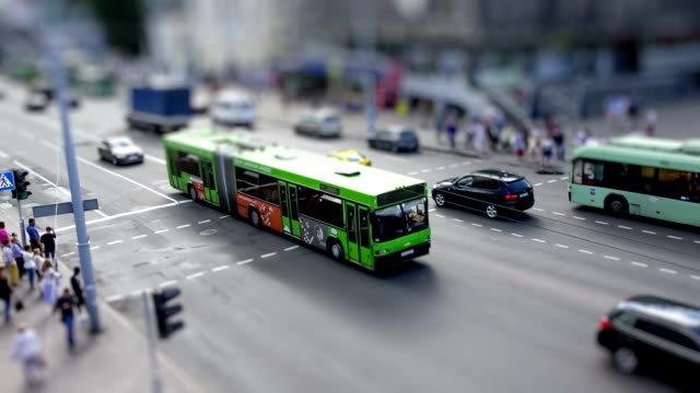 toy city life - tilt shift stock videos and b-roll footage