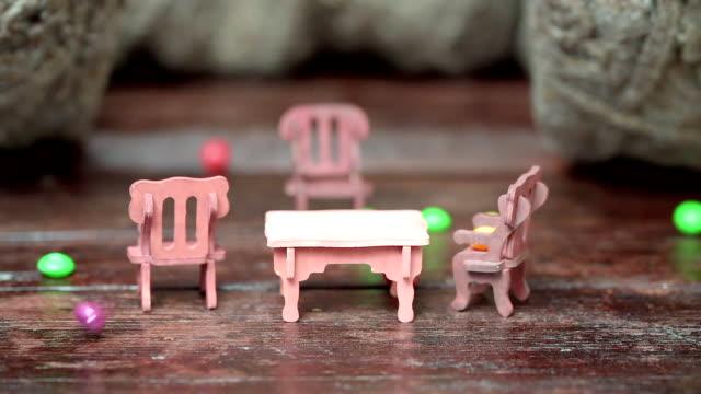 Toy furniture crashing