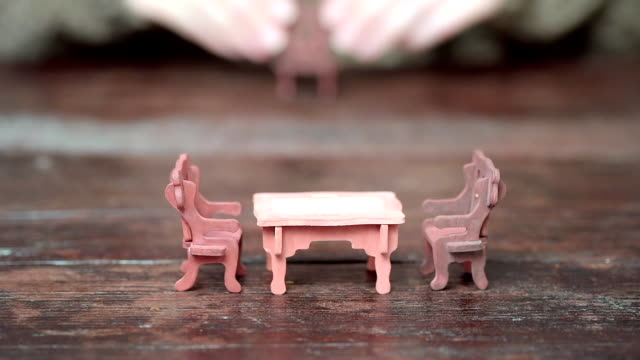 toy furniture removing - doll stock videos and b-roll footage