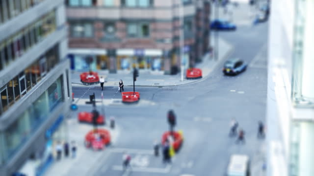 toy town... - tilt shift stock videos and b-roll footage