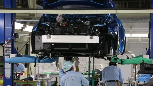 Toyota Motor Corp workers assemble a Mirai fuel cell vehicle on the production line of the companys Motomachi plant in Toyota Aichi Prefecture Japan...