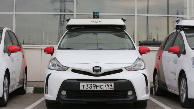 toyota prius and hyundai sonata selfdriving cars operated by the yandextaxi online service in moscow russia on sunday august 25 2019 - using laptop stock videos & royalty-free footage