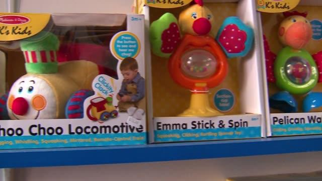 toys and games in a spectrum toys shop on nov. 21, 2016. - negozio di giocattoli video stock e b–roll