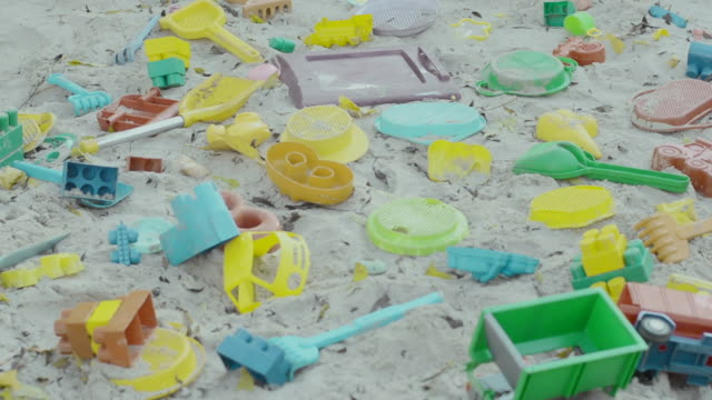 toys in sandbox, empty playground - sand pit stock videos and b-roll footage