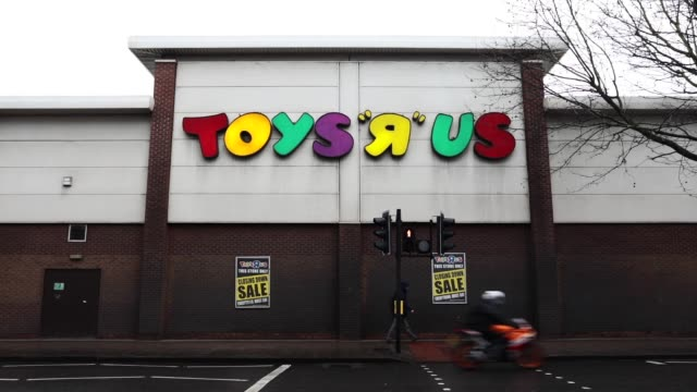 Toys R Us on New Kent Road stands under a grey sky on February 19 2018 in London England The toy retailer which employs 3000 people faces going into...