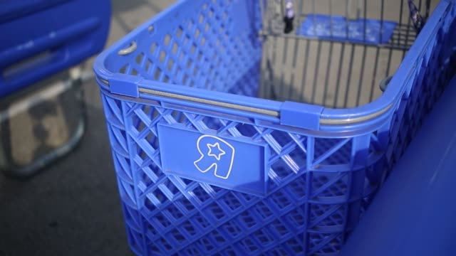 toys r us shopping carts stand outside of retail store in louisville kentucky us on monday september 18 2017 photographer luke sharrett shots wide... - toys r us stock videos and b-roll footage