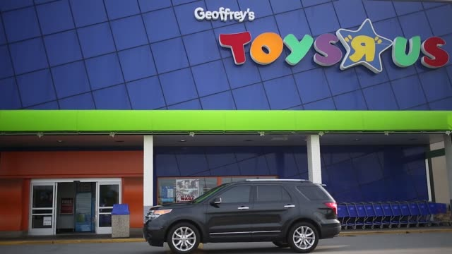toys r us signage is displayed on building in louisville kentucky us on monday september 18 2017 photographer luke sharrett shots wide shot of toys r... - toys r us stock videos and b-roll footage