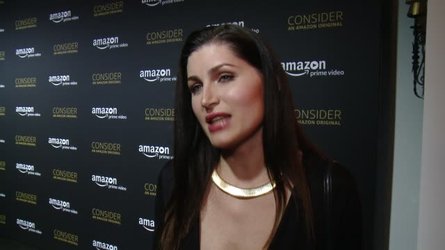 interview trace lysette on how it feels to share tonight with the fans what it's like to work with jill be a part of this ensemble cast the... - season 4 stock videos and b-roll footage