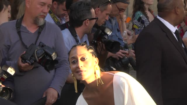 Tracee Ellis Ross arrives at the Valentino Haute Couture Fall Winter 2018/2019 show as part of Paris Fashion Week on July 4 2018 in Paris France