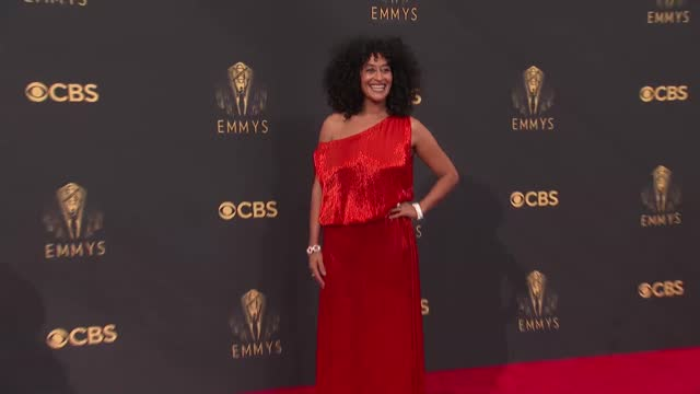 tracee ellis ross arrives to the 73rd annual primetime emmy awards at l.a. live on september 19, 2021 in los angeles, california. - emmy awards stock videos & royalty-free footage