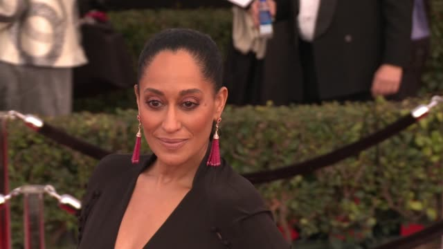 Tracee Ellis Ross at 23rd Annual Screen Actors Guild Awards Arrivals at The Shrine Expo Hall on January 29 2017 in Los Angeles California