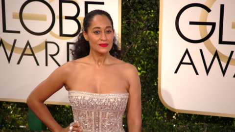 tracee ellis ross at 74th annual golden globe awards - arrivals at the beverly hilton hotel on january 08, 2017 in beverly hills, california. 4k... - award stock videos & royalty-free footage