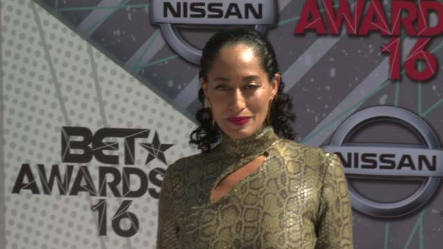tracee ellis ross at the 2016 bet awards at microsoft theater on june 26 2016 in los angeles california - microsoft theater los angeles stock videos and b-roll footage