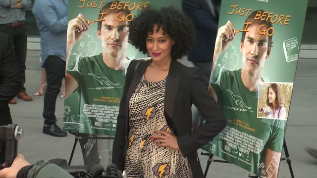 tracee ellis ross at the just before i go los angeles premiere at arclight cinemas on april 20 2015 in hollywood california - arclight cinemas hollywood stock videos & royalty-free footage