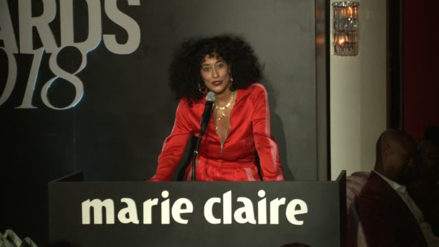 SPEECH Tracee Ellis Ross at the Marie Claire's Image Maker Awards 2018 at Delilah on January 11 2018 in West Hollywood California