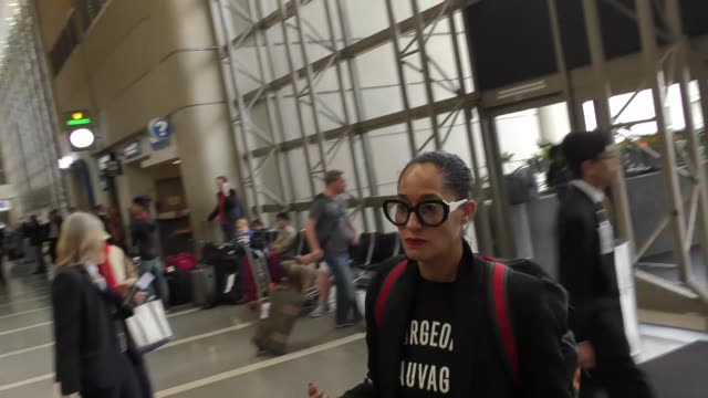 Tracee Ellis Ross departing at LAX Airport in Los Angeles in Celebrity Sightings in Los Angeles