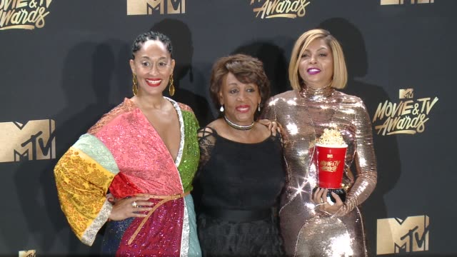 Tracee Ellis Ross Maxine Walters Taraji P Henson at 2017 MTV Movie And TV Awards Press Room in Los Angeles CA