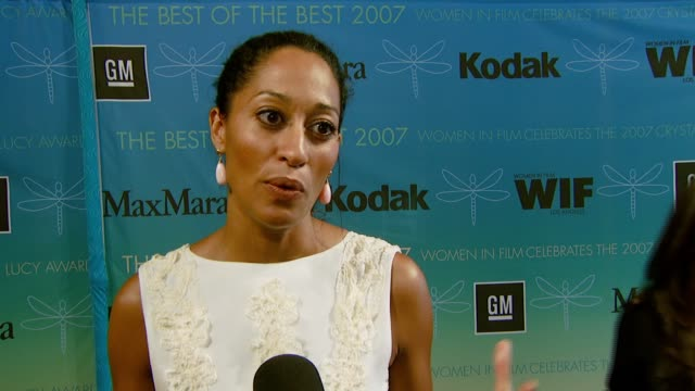 Tracee Ellis Ross on dressing for this event being a presenter honoring women in the entertainment field and the Lucy Award named in honor of Lucille...