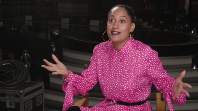 interview tracee ellis ross on how she feels to be hosting the amas how she is preparing what people can expect from the show the performances she is... - american music awards video stock e b–roll