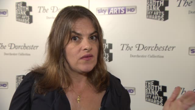 INTERVIEW Tracey Emin on the Sky Arts Awards and Steve McQueen at South Bank Sky Arts Award at Dorchester Hotel on January 27 2014 in London England
