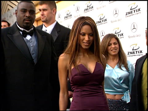 traci bingham at the 2001 academy awards - red carpet and spago party at the shrine auditorium in los angeles, california on march 25, 2001. - 第73回アカデミー賞点の映像素材/bロール