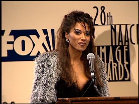 traci bingham at the naacp 28th annual image awards on february 8 1997 - naacp stock videos & royalty-free footage