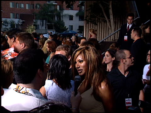 traci bingham at the 'scary movie 2' premiere at avco cinema in westwood, california on july 2, 2001. - traci bingham stock videos & royalty-free footage